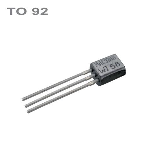 MAC97A8 Triak 600V 0.6A Igt Ih 7 10mA TO-92