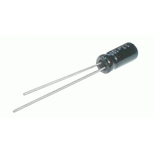 Kondenzátor elektrolytický 1M 100V 5x11-2.5 105*C rad. C