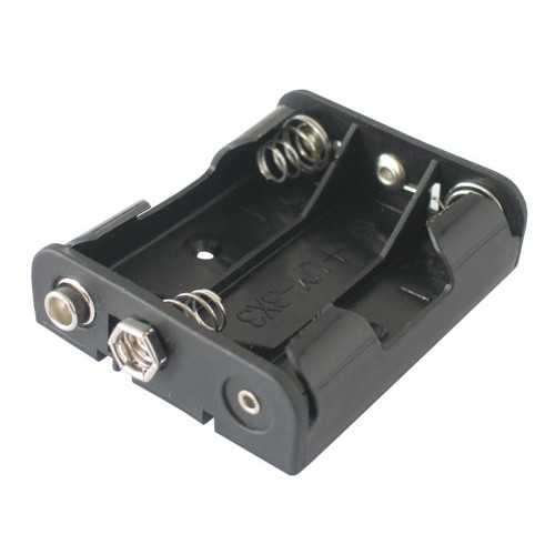 Puzdro batérie R6x3 vedľa seba