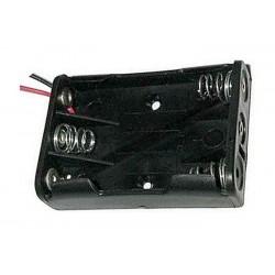 Puzdro batérie R03x3 vedľa seba s vývodmi 15cm