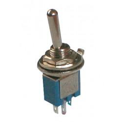 Prepínač páčkový 2pol. 3pin ON-ON mini