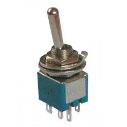 Prepínač páčkový 2pol. 6pin ON-ON mini