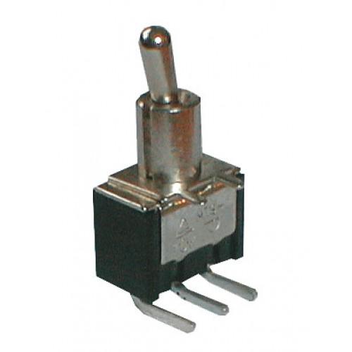 Prepínač páčkový 2pol. 3pin ON-ON plošný spoj