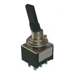 Prepínač páčkový 3pol. 6pin ON-OFF-ON plastic