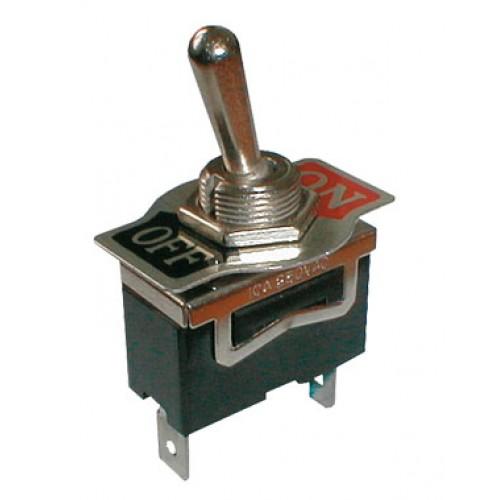 Prepínač páčkový 2pol. 2pin ON-OFF 250V 10A