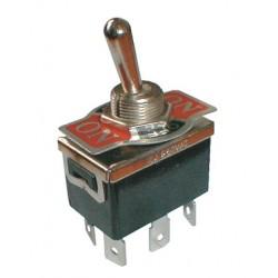 Prepínač páčkový 3pol. 6pin ON-OFF-ON 250V 10A