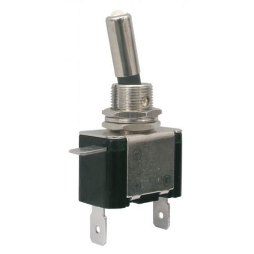 Prepínač páčkový 2pol. 2pin ON-OFF 12VDC 25A LED biela