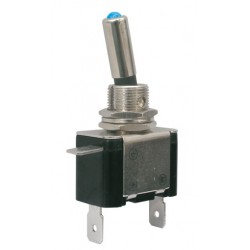 Prepínač páčkový 2pol. 2pin ON-OFF 12VDC 25A LED modrá