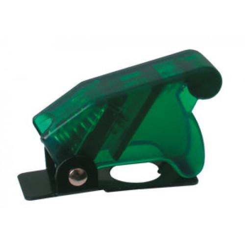 Prepínač páčkový ochran.kryt - transp. zelená