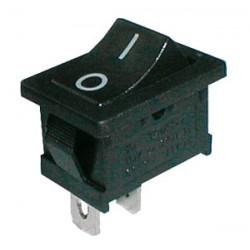 Prepínač kolískový 2pol. 2pin ON-OFF 250V 6A čierny 0-I