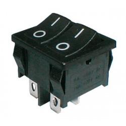 Prepínač kolískový 2x (2pol. 2pin) ON-OFF dvojitý čierny OI 12V