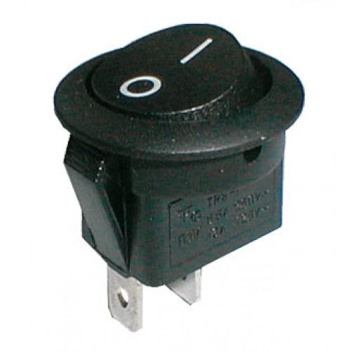 Prepínač kolískový kul. 2pol. 2pin ON-OFF 250V 6A čierny