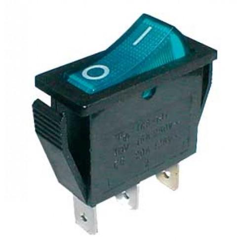 Prepínač kolískový 2pol. 3pin ON-OFF 250V 15A dec. modrý