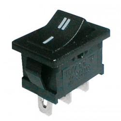 Prepínač kolískový 2pol. 3pin ON-ON 250V 6A čierny