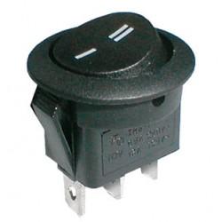 Prepínač kolískový okr. 2pol. 3pin ON-ON 250V 6A čierny