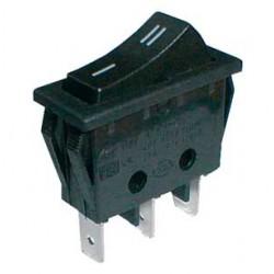 Prepínač kolískový 2pol. 3pin ON-ON 250V 15A čierny