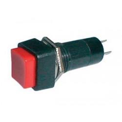 Prepínač tlačítko štv. OFF-(ON) 250V 1A červené