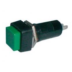 Prepínač tlačítko štvorec ON-OFF 250V 1A zelené