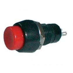 Prepínač tlačítko kul. ON-OFF střed. červený (12V)
