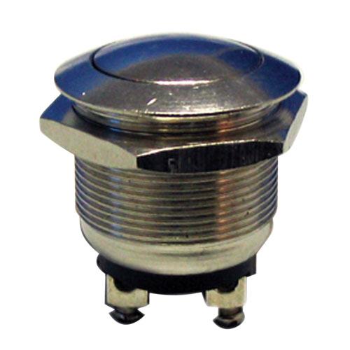 Prepínač tlačítko kul. OFF-(ON) kov-typ1 (12V)