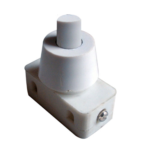 Prepínač tlačítko okrúhle typ-1 ON-OFF 250V 1A biele