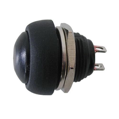 Prepínač tlačítko okrúhle OFF-(ON) stred čierne