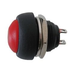Prepínač tlačítko okrúhle OFF-(ON) stred červený