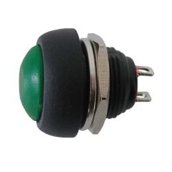 Prepínač tlačítko okrúhle OFF-(ON) stred zelený