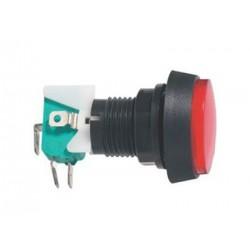 Prepínač tlačítko okrúhle ON-(ON) 250V/10A s mikrospínačom červené