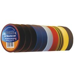 Izolačná páska PVC 15 10m farebný mix 10ks