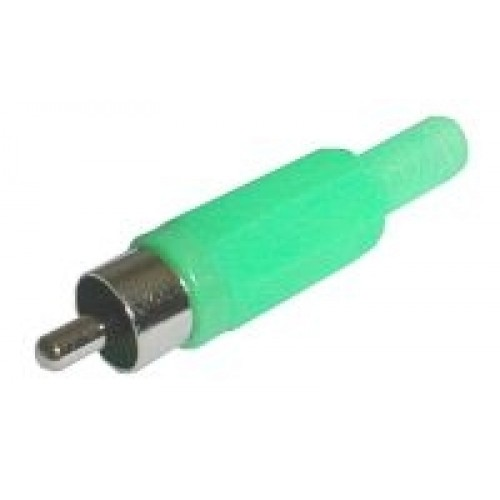 Konektor CINCH kábel plast zelený