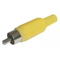 Konektor CINCH kábel plast žltý