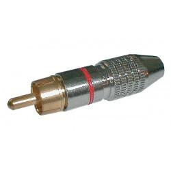 Konektor CINCH kábel kov nikel pr. 5mm čierny
