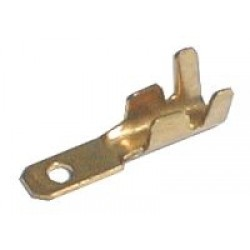 Konektor faston neizolovaný 6.3mm blokáda