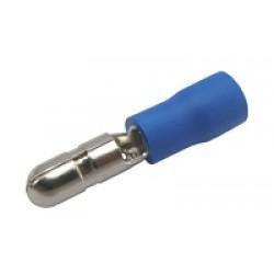 Konektor kruhový 4mm, vodič 1.5-2.5mm modrý