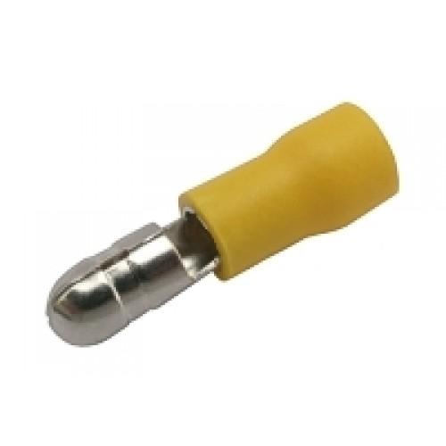 Konektor kruhový 5mm, vodič 4.0-6.0mm žlutý