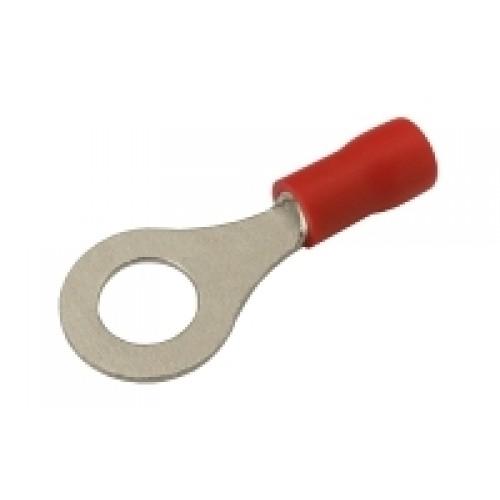 Očko 6.5mm, vodič 0.5-1.5mm červené