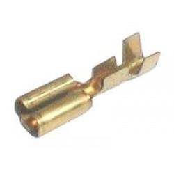 Zdierka faston neizolovaná 6.3mm blokáda