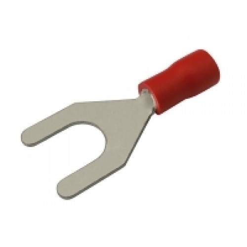 Vidlička 6.5mm, vodič 0.5-1.5mm červená