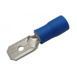 Konektor faston 6.3mm, vodič 1.5-2.5mm modrý