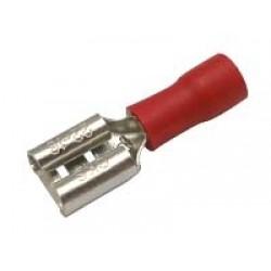 Zdierka faston 6.3mm ,vodič 0.5-1.5mm červená