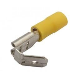 Zdierka faston rozvádzač 6.3mm, vodič 4.0-6.0mm žltý
