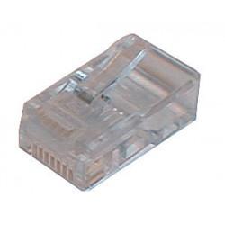 Konektor telefónny kábel 6p-4c RJ11