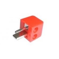 Konektor repro skrutkovací uhlový červený