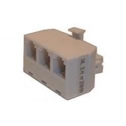 Redukcia telefónna konektor 3x zdierka 6p-4c