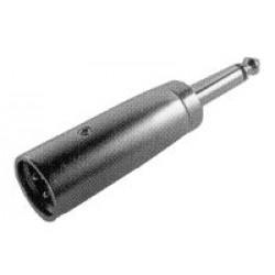 Redukcia MIC 3PIN konektor Jack 6.3 mono konektor