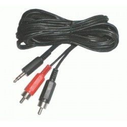 Kábel Jack 3.5 stereo - 2 x CINCH konektor 5m