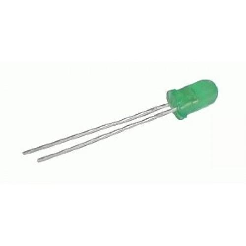 LED 5mm zelená difúzna