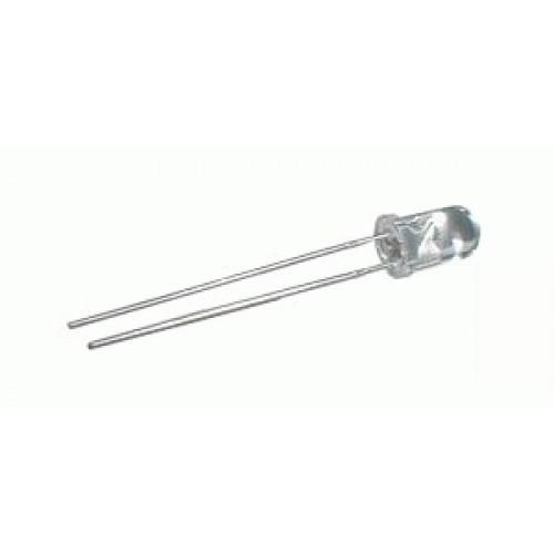 LED 5mm biela 4000mcd 30° číra