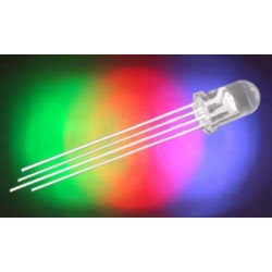 LED 5mm RGB 1500 5000mcd 30° čirá, 20mA